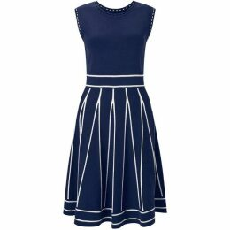 James Lakeland Fit And Flare Knit Panel Dress