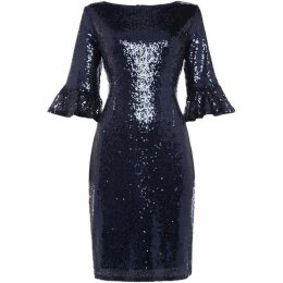 Marina Bell sleevel sequin dress