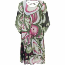 James Lakeland Print Crossback Dress
