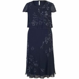 Chesca Double Layer Beaded Chiffon Dress