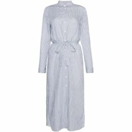Gant Long Sleeve Long Striped Shirt Dress