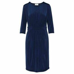 Carolina Cavour Jersey dress With Pintuck And Waist Deta