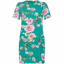Yumi Oriental Blossom Tunic Dress With Pocket