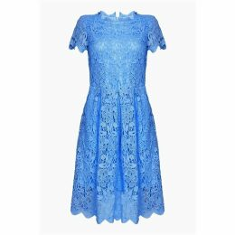 Yumi Curves Floral Lace Prom Skater Dress