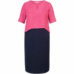 Chesca Layered Textured Jacquard Dress