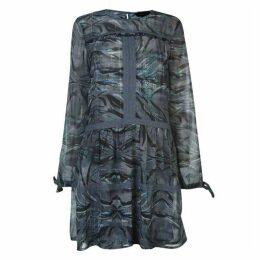 Label Lab Zebra print lace insert dress