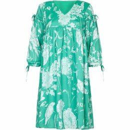Yumi Floral Print Tassel Tunic Dress