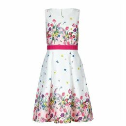 Yumi Bouquet Border Print Skater Dress