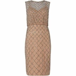 Adrianna Papell Beaded blouson shift dress