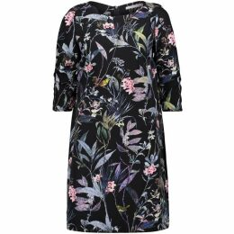 Betty Barclay Floral Print Crêpe Dress