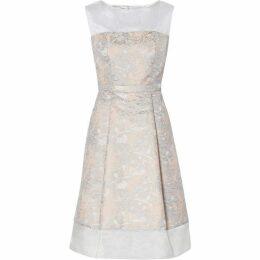 Gina Bacconi Katrina Floral Jacquard Dress