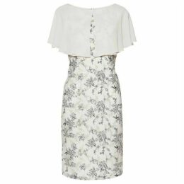Gina Bacconi Pollyanna Embroidered Dress With Cape