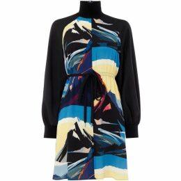 Sportmax Code Abilita printed tie detail dress