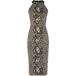 Karen Millen Snakeskin Pencil Dress