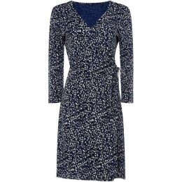 Gant Tie Wrap Printed Dress
