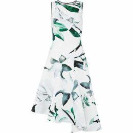 Coast Lattice Print Scuba Dress