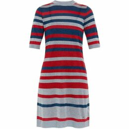 Ted Baker Ioney Lurex Striped Knit Dress