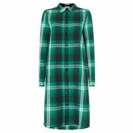 Replay Checked Flannel Shirt Dress