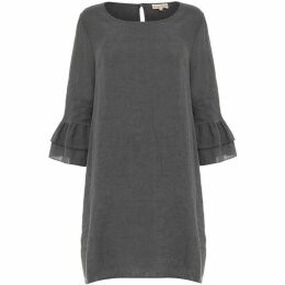 Phase Eight Jen Linen Frill Sleeve Dress
