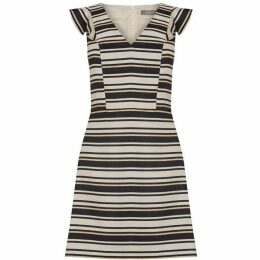 Oasis Stripe jacquard shift dress