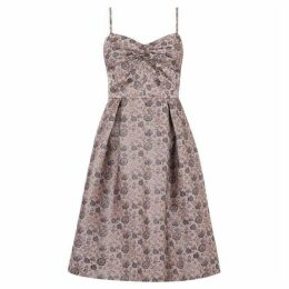 Oasis Twist front jacquard skater dress