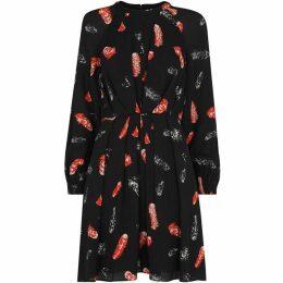 Whistles Jasmine Feather Print Dress