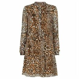 Whistles Animal Print Shirt Dress