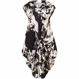 Chesca Abstract Floral Stretch Drape Dress