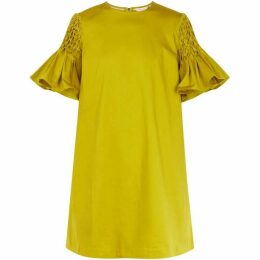 Ted Baker Faatima Smocked Sleeve A-Line Dress