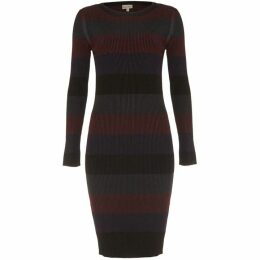 Phase Eight Sigrid Rib Stripe Knit Dress