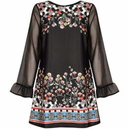 Yumi Floral Pixal Tunic Dress