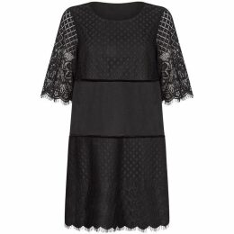 Yumi Lace And Velvet Tunic Dress
