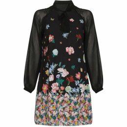 Yumi Gradient Flower Tunic Dress