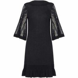 Yumi Lace Knitted Tunic Dress