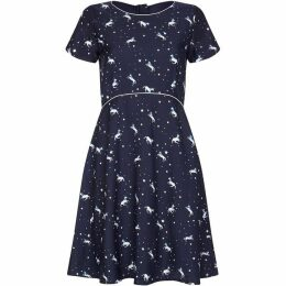 Yumi Unicorn And Star Print Dress