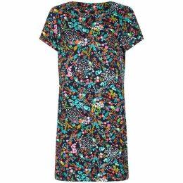 Yumi Vibrant Botanical Tunic Dress