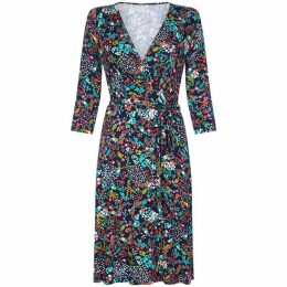 Yumi Flower Embroidered Knitted Dress