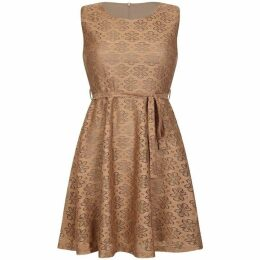 Mela Floral Printed Lace Skater Dress