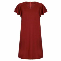 Mela Frill Sleeve Tunic Dress