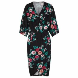 Mela Floral Patterned Wrap Dress