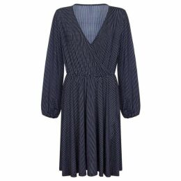 Mela London Curve Pinstripe Wrap Dress