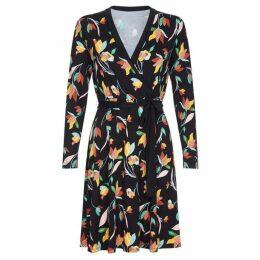 Yumi Curves Tulip Pattern Jersey Dress