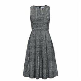 Carolina Cavour Plaid Jersey Stretch Dress