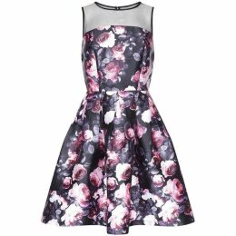Yumi Digital Rose Print Prom Dress