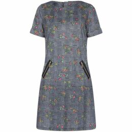 Yumi Check Floral Tunic Dress