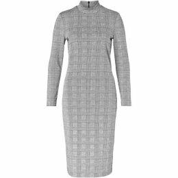 Hallhuber Glen Check Jersey Dress