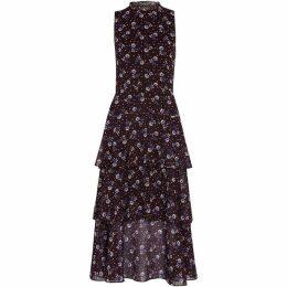 Whistles Sienna Print Tiered Dress