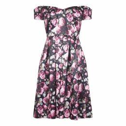 Mela Off The Shoulder Floral Prom Dress