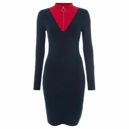 Jack Wills GUILDEN ZIP FUNNEL NECK DRESS