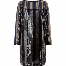 Vero Moda Doris Striped Sequin Mini Dress